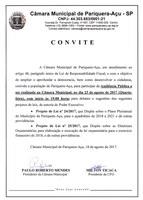 CONVITE PARA AUDIÊNCIA PÚBLICA DIA 23/08/2017