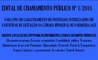 EDITAL DE CHAMAMENTO PÚBLICO Nº 1/2018