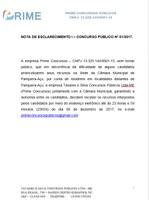 Nota de Esclarecimento da Empresa Organizadora do Concurso Público nº 1/2017-Recursos.