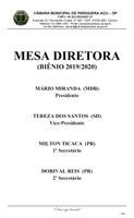 Sessão Especial para Renovação da Mesa Diretora - Biênio 2019/2020