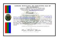 Sessão Solene em Comemoração ao 65º Aniversário de Emancipação Político-Administrativa de Pariquera-Açu