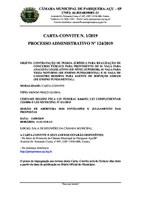 Termo de Adjudicação da Carta-Convite nº 1/2019.