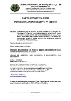 Termo de Homologação da Carta-Convite nº 1/2019.
